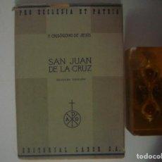Libros antiguos: P.CRISOGONO DE JESUS. SAN JUAN DE LA CRUZ. ED.LABOR. 1946. MUY ILUSTRADO.. Lote 82028696