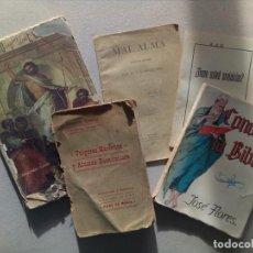 Libros antiguos: LOTE DE 5 ANTIGUAS PUBLICACIONES RELIGIOSAS. Lote 84972220