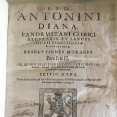 Libros antiguos: RESOLUTIONES MORALES. ANTONINI DIANA 1637. Lote 85493328