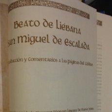 Libros antiguos: BEATO DE LIEBANA SAN MIGUEL DE ESCALADAFACSÍMIL CON FUNDA EDICIÓN LIMITADA CLUB INTERNACIONAL LIBRO. Lote 85779911