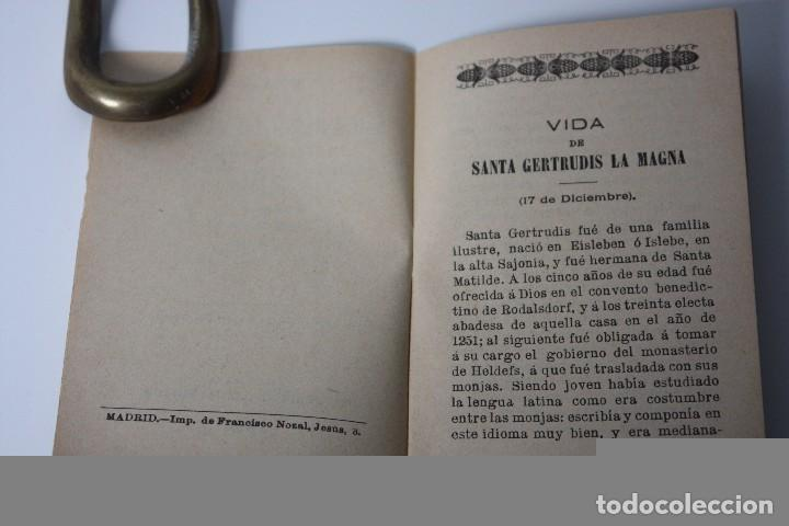 Libros antiguos: FLORES CELESTES, VIDA DE STA. GERTRUDIS (S. CALLEJA - MADRID) 1898 - Foto 6 - 86169960