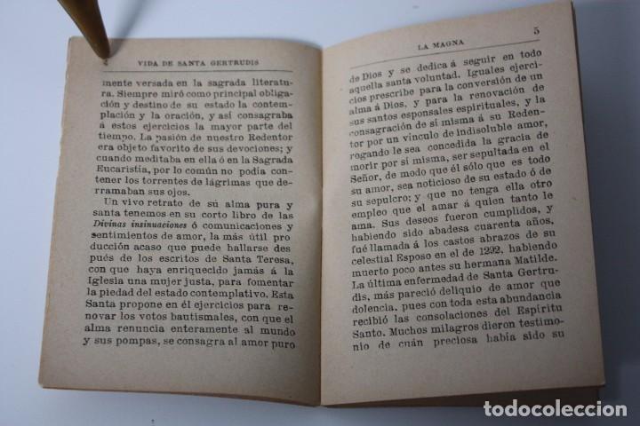 Libros antiguos: FLORES CELESTES, VIDA DE STA. GERTRUDIS (S. CALLEJA - MADRID) 1898 - Foto 7 - 86169960