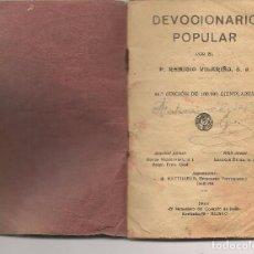Libros antiguos: DEVOCIONARIO POPULAR. P, REMIGIO VILARIÑO,S.J. EL MENSAJERO 1934. (P/C8). Lote 86857032