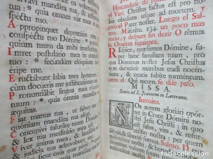Libros antiguos: OFICIO DE LA SEMANA SANTA SEGUN EL MISSAL Y BREVIARIO ROMANOS. C. 1740. INCOMPLETO. - Foto 6 - 87218864
