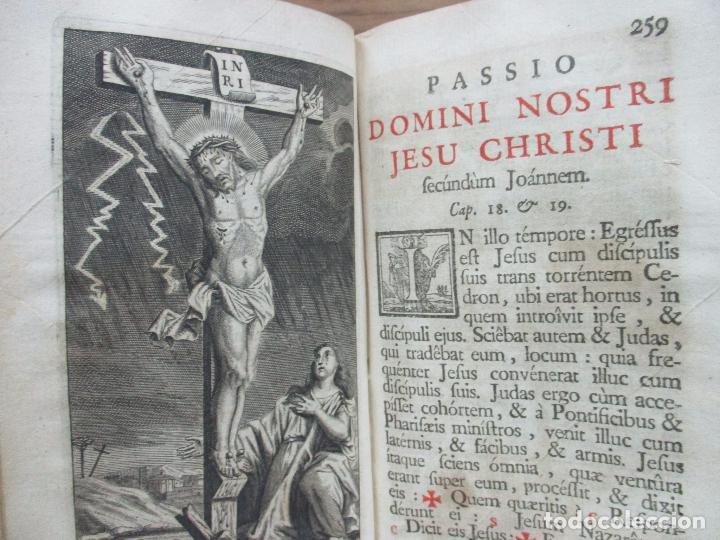 Libros antiguos: OFICIO DE LA SEMANA SANTA SEGUN EL MISSAL Y BREVIARIO ROMANOS. C. 1740. INCOMPLETO. - Foto 7 - 87218864