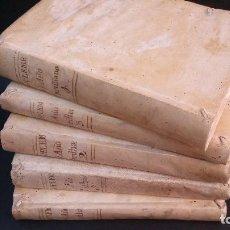 Libros antiguos: 1792 - CROISET / JOSÉ F. DE ISLA - SUPLEMENTO A LA OBRA EL AÑO CRISTIANO - 5 TOMOS, COMPLETO. Lote 87223216