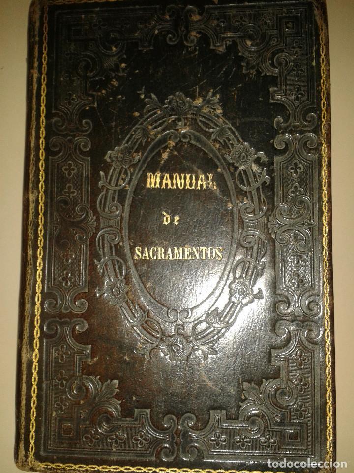 MANUAL DE SACRAMENTOS. 1864 (Libros Antiguos, Raros y Curiosos - Religión)