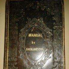 Libros antiguos: MANUAL DE SACRAMENTOS. 1864. Lote 88964896