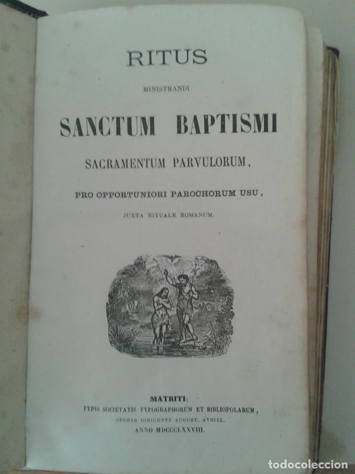 Libros antiguos: MANUAL DE SACRAMENTOS. 1864 - Foto 2 - 88964896