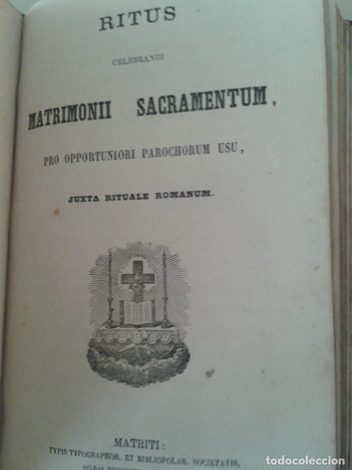 Libros antiguos: MANUAL DE SACRAMENTOS. 1864 - Foto 3 - 88964896