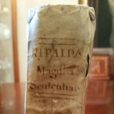 Libros antiguos: RIPALDA. PERGAMINO. LIBRO MAGISTRI SENTENTIARUM. 1772 (S. XVIII) P. JOANNE M. DE RIPALDA.. Lote 89291234