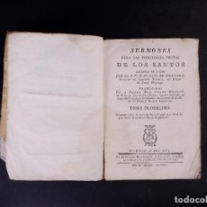 Libros antiguos: SERMONES DEL VENERABLE PADRE MAESTRO FR. LUIS DE GRANADA, MADRID 1792, TOMO 12. Lote 89577684