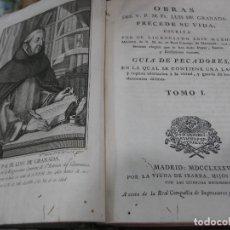 Libros antiguos: OBRAS FRAY LUIS DE GRANADA 1788 SIGLO XVIII 6 TOMOS COMPLETAS. Lote 90002816