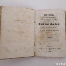 Libros antiguos: BREU NOTICIA DE LAS INSTRUCCIONS DE LA ARXICOFRARIA, COR DE MARIA - D. ANTONI CLARET - GERONA -1854. Lote 90711825