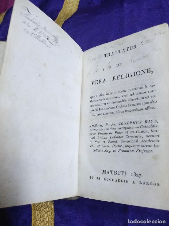 Libros antiguos: (En Latín). Tractatus de Vera Religione. J. Rius (Franciscano). Madrid, 1827. - Foto 2 - 90922015