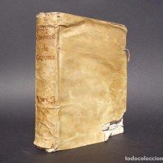 Libros antiguos: 1751 CONFERENCIAS DE LA DIOCESI DE GERONA - PERGAMINO - TARRAGONA. Lote 91149760