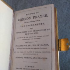 Libros antiguos: THE BOOK OF COMMON PRAYER AND ADMINISTRATION OF THE SACRAMENTS. OXFORD 1867. Lote 91573353