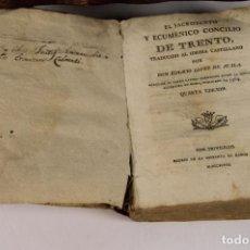 Libros antiguos: 6125 - EL SACROSANTO Y ECUMÉNICO CONCILIO DE TRENTO. L. AYALA. IM. R. RUIZ. 1798.. Lote 49190177