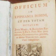 Libros antiguos: 1790. OFFICIUM IN EPIPHANIA DOMINI ET PER TOTAM OCTAVAM. MATRITI. MARIN.. Lote 92096685