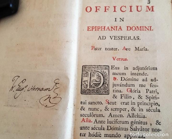Libros antiguos: 1790. OFFICIUM IN EPIPHANIA DOMINI ET PER TOTAM OCTAVAM. MATRITI. MARIN. - Foto 2 - 92096685