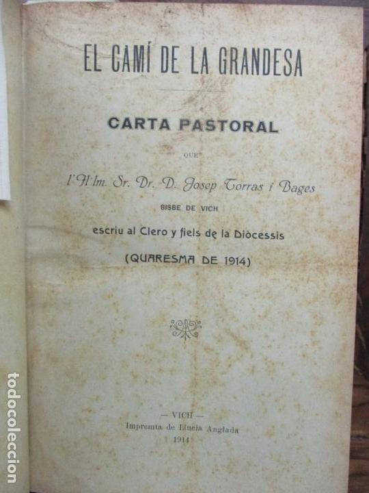 Libros antiguos: PASTORALES DEL DR. TORRAS Y BAGES Y OTROS OBISPOS, DISCURSOS, SERMONES...S. XIX-p. S. XX. - Foto 4 - 92695855