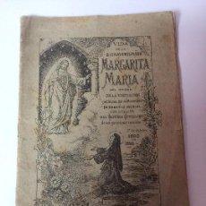 Libros antiguos: VIDA DE LA BIENAVENTURADA MARGARITA MARIA (SEGUNDO CENTENARIO DE SU MUERTE) C.PAILLART (1890). Lote 92809975