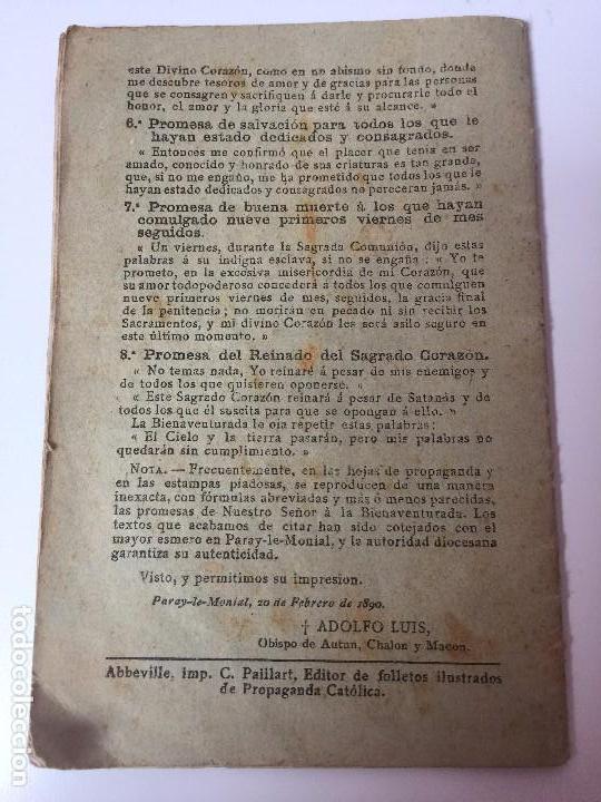 Libros antiguos: VIDA DE LA BIENAVENTURADA MARGARITA MARIA (SEGUNDO CENTENARIO DE SU MUERTE) C.PAILLART (1890) - Foto 3 - 92809975