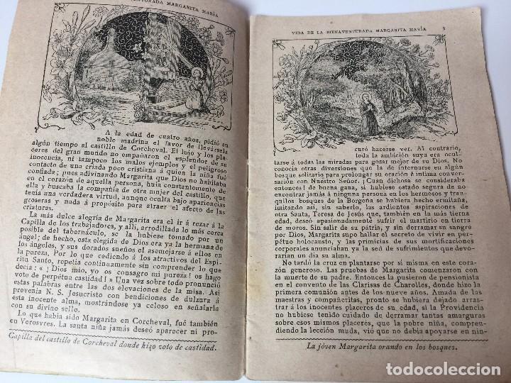 Libros antiguos: VIDA DE LA BIENAVENTURADA MARGARITA MARIA (SEGUNDO CENTENARIO DE SU MUERTE) C.PAILLART (1890) - Foto 5 - 92809975