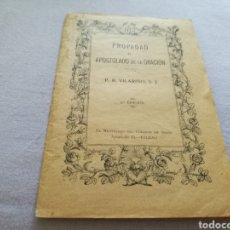 Libros antiguos: LIBRITO RELIGIOSO APOSTOLADO DE LA ORACIÓN. BILBAO. 1928. Lote 93584213