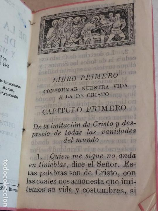 Libros antiguos: Imitación de Cristo Menosprecio del Mundo Tomás de Kempis más imitación de María 1942 - Foto 2 - 155995753