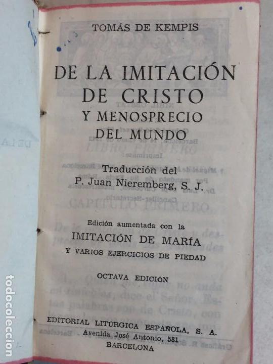 IMITACIÓN DE CRISTO MENOSPRECIO DEL MUNDO TOMÁS DE KEMPIS MÁS IMITACIÓN DE MARÍA 1942 (Libros Antiguos, Raros y Curiosos - Religión)