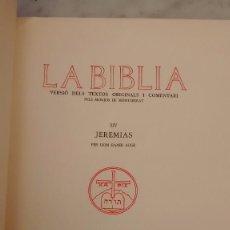 Libros antiguos - La biblia Jeremías 1950 numerado editado monestir montserrat - 93960235