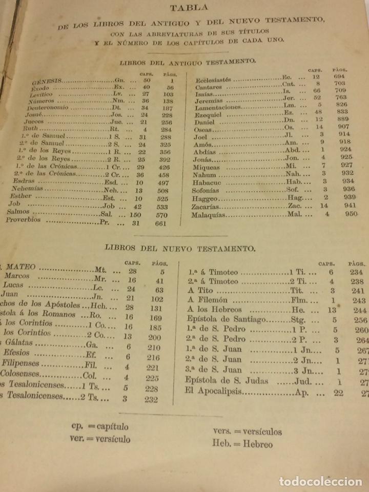 Libros antiguos: Santa Biblia Los Sagrados libros de antiguo y Nuevo Testamento 1920 - Foto 4 - 109392010
