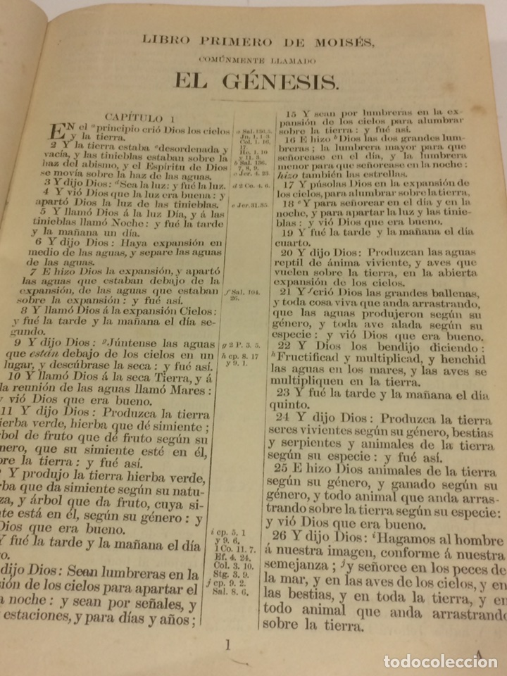 Libros antiguos: Santa Biblia Los Sagrados libros de antiguo y Nuevo Testamento 1920 - Foto 5 - 109392010