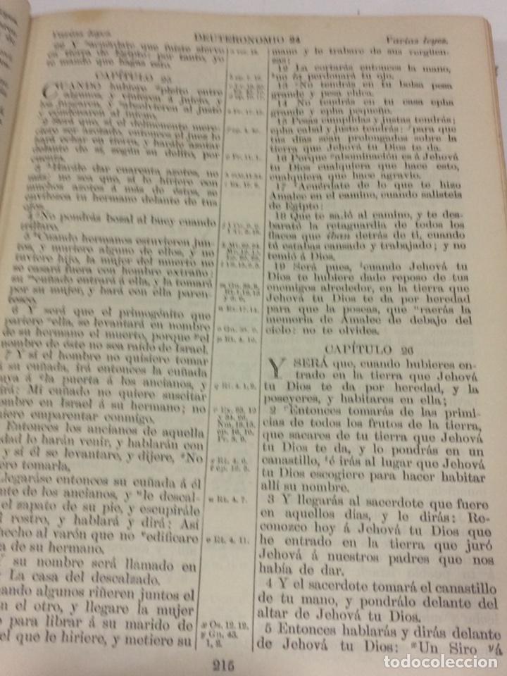 Libros antiguos: Santa Biblia Los Sagrados libros de antiguo y Nuevo Testamento 1920 - Foto 6 - 109392010