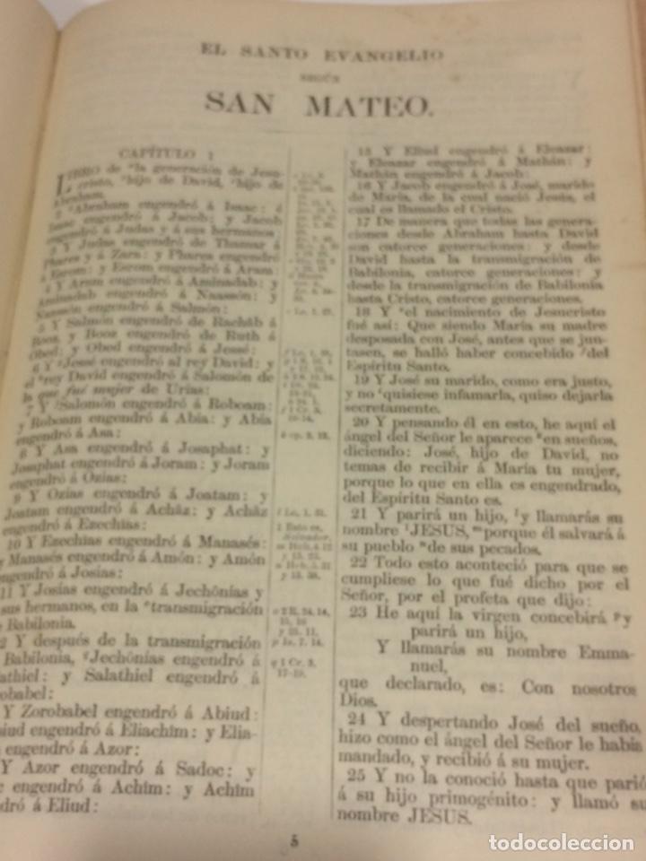 Libros antiguos: Santa Biblia Los Sagrados libros de antiguo y Nuevo Testamento 1920 - Foto 7 - 109392010