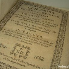 Libros antiguos: LIBRO TAPAS DE PERGAMINO..CONCORDIA ENTRE LA QUIETUD Y LA FATIGA Y VIDA DEL PADRE P.SEÑERI.AÑO.1.688. Lote 95416859