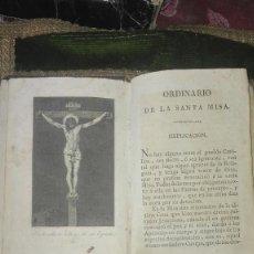 Libros antiguos: LIBRO RELIGIOSO.ORDINARIO DE LA SANTA MISA. DOMINGO Y MOMPIE.VALENCIA.1819.. Lote 95510595