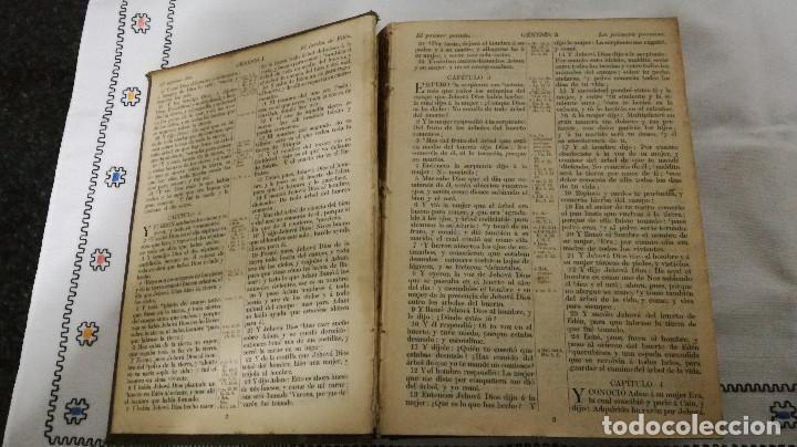 Libros antiguos: 9-LA SANTA BIBLIA, antigua version de Cipriano Valera, 1911 - Foto 6 - 95532563