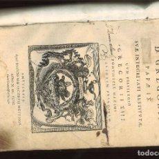 Libros antiguos: DECRETALES D. GREGORII PAPAE IX. SVAE INTEGRITATI RESTITVTAE CVM PRIVILEGIO GREGORII XIII ...... Lote 95995671