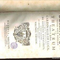 Libros antiguos: MANTISSA DECISIONUM SACRAE ROTAE ROMANAE AD THEATRUM VERITATIS & JUFTITIAE CARDINALIS DE LUCA, ...... Lote 95997351
