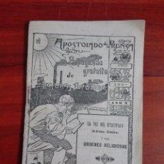 Libros antiguos: APOSTOLADO DE LA PRENSA LA VOZ DEL EPISCOPADO EL DRAMA ELECTRA Y LAS ÓRDENES RELIGIOSAS 1901. Lote 96004671