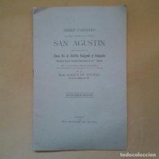 Libros antiguos: SERMÓN PANEGÍRICO DE SAN AGUSTÍN POR EL ILMO. SR. D. DELFÍN SALGADO Y SALGADO EL ESCORIAL 1925. Lote 96005303