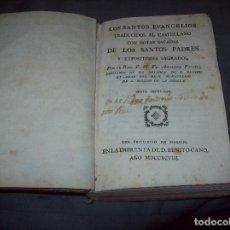 Libros antiguos: LOS SANTOS EVANGELIOS TRADUCIDOS AL CASTELLANO CON NOTAS SACADAS DE LOS SANTOS PADRES. 1798.UNA JOYA. Lote 96141635
