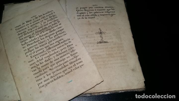 Libros antiguos: PENSAMIENTOS SOBRE EL CRISTIANISMO y pruebas de su verdad / jose droz / 1845 - Foto 4 - 96177959