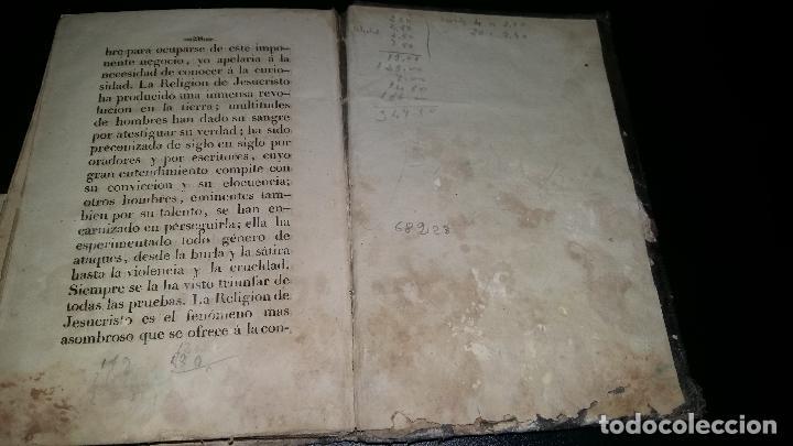 Libros antiguos: PENSAMIENTOS SOBRE EL CRISTIANISMO y pruebas de su verdad / jose droz / 1845 - Foto 8 - 96177959