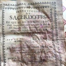 Libros antiguos: INSTRUCCIÓN DE SACERDOTES. ANTONIO DE MOLINA. BARCELONA 1746. . Lote 96769707