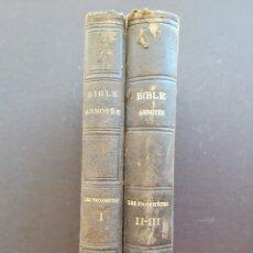 Libros antiguos: LA BIBLE ANNOTEE UNE SOCIETE DE THEOLOGIENS ET DE PASTEURS ANCIEN TESTAMENT LES PROPHETES I II III. Lote 97019051