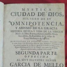 Libros antiguos: MYSTICA CIUDAD DE DIOS VIDA DE LA VIRGEN LISBOA 1680 MIGUEL MANESCAL. Lote 97039455