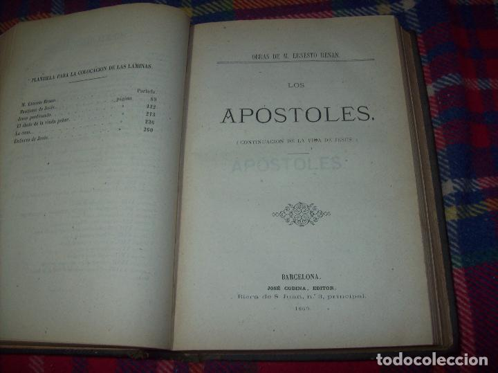Libros antiguos: OBRAS DE M. ERNESTO RENAN : VIDA DE JESÚS / LOS APÓSTOLES / SAN PABLO. 1869. UNA JOYA!!!!!!!!! - Foto 11 - 97174223